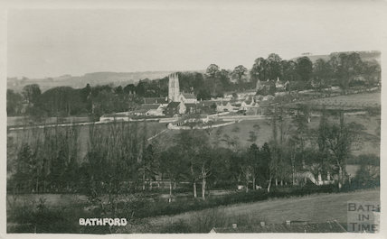 View of Bathford and Church, c.1920s