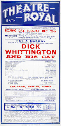 Poster Dick Whittington and His Cat, December 26th 1933