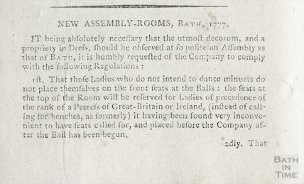 Regulations for the Company in Bath, 1780 part1