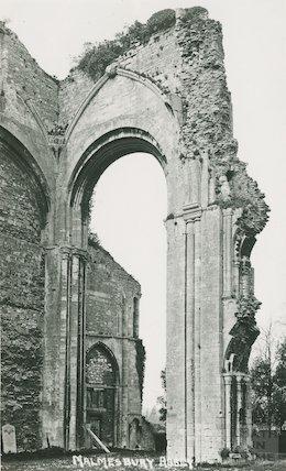 Malmesbury Abbey ruins, Wiltshire, c.1920s