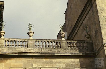 Detail from the bridge at William Beckford's house on Lansdown Crescent, April 1992