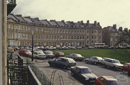 Lansdown Crescent, Bath, April 1992