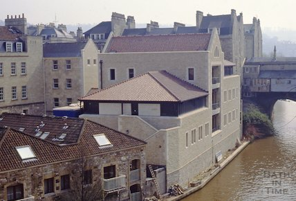 The Grove Street development and Pulteney Bridge, Bath, April 1992