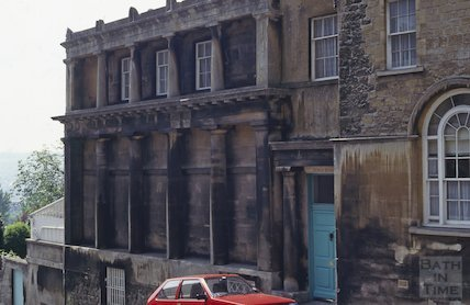 Roadside elevation of Doric House, Sion Hill, Bath, May 1992