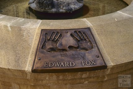 Seven Dials hand print of Edward Fox, Sawclose, Bath, August 1992