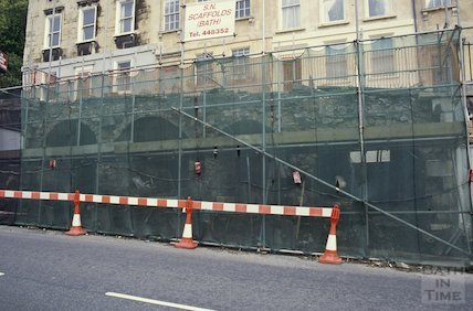 Walcot Parade repairs to vaults, September 1992