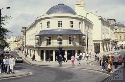 The newly completed Seven Dials, Sawclose, Bath, September 1992