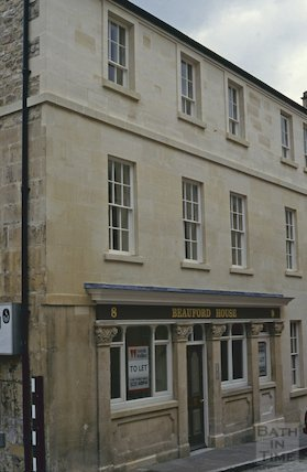 Beauford House, formerly the Beauford Arms, Princes Street, Bath, October 1992