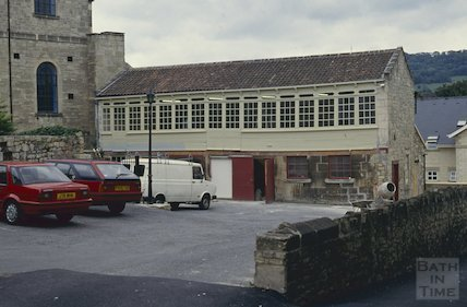 Georgian workshop, Hayes car park, London Street, Bath, October 1992