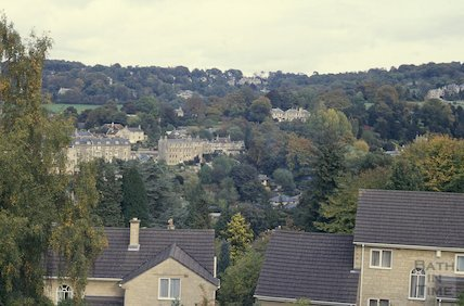 View from Lyncombe Hill,  October 1992