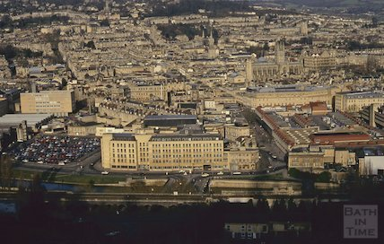 View of Bath from Beechen Cliff, February 1993