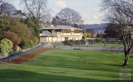 New pavilion and bowls club, Royal Victoria Park, Bath, March 1993