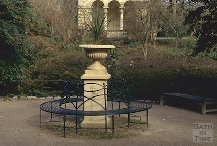 New seat etc., Botanic Gardens, Royal Victoria Park, Bath, March 1993