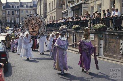 Festival carnival, George Street, Bath June 1993