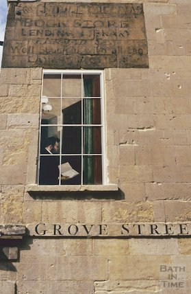Blind window paintings, Grove Street, July 1993