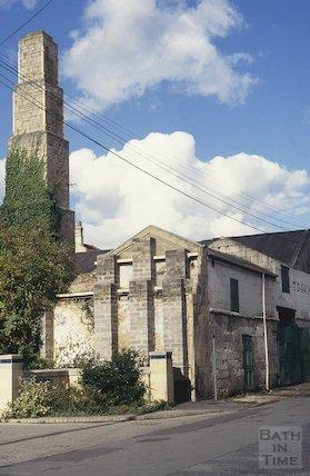 Derelict buildings, next to T Davis, Milk Street, October 1993