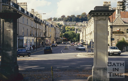 Entrance to Sydney Gardens, looking down Bathwick Street, October 1993