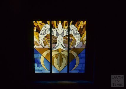 Chapel window, University of Bath, October 1993