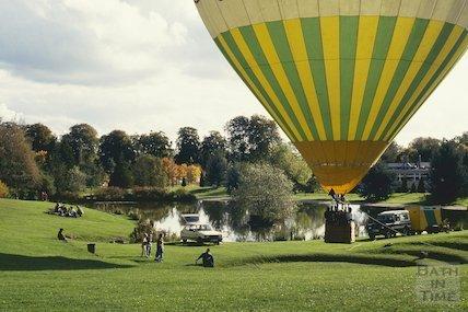 Balloon ascent, University of Bath, October 1993