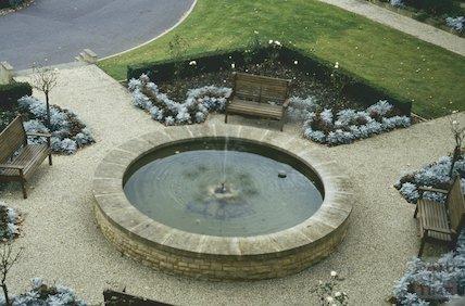 Garden pond, Bath Spa Hotel, February 1994
