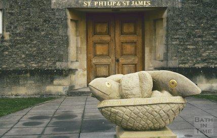 St Philip's & St James' Church , Odd Down, February 1994