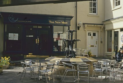 The New Moon Restaurant, Seven Dials, Sawclose, April 1994