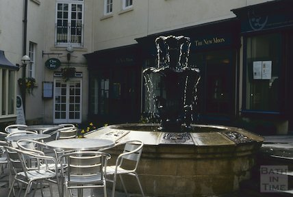 The fountain, Seven Dials, Sawclose, April 1994