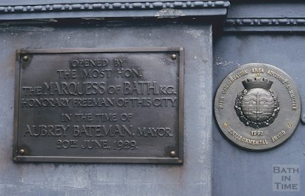 Plaque on Cleveland Bridge, June 1994