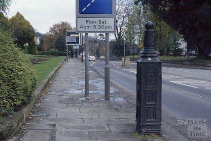 Gas lamp base, London Road, November 1994