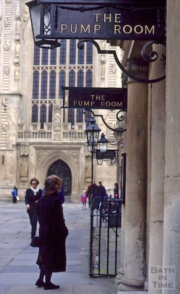 Pump Room sign, Abbey Church Yard, March 1995