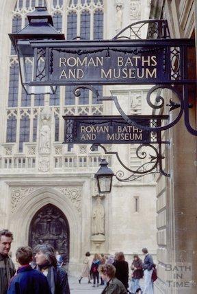 Pump Room sign, Abbey Church Yard, March 1995