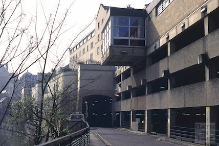 Podium Car Park to the rear of the Hilton Hotel, Northgate Street, Bath, April 1995