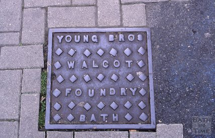 Coal hatch from Walcot Foundry, Queen Square, Bath, May 1995