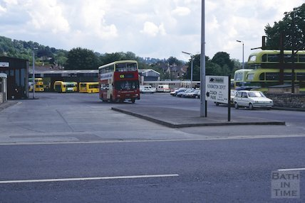 Kensington Bus depot, London Road, Bath, June 1995