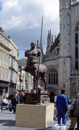 Sculptures in Bath Abbey Church Yard, May 1996