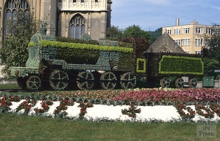 Somerset and Dorset Railway flower tribute, St Mary's Church, June 1996