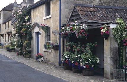 Cottages on Church Street, Bathford, July 1996