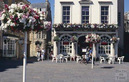 Eldridge Pope pub, now the Huntsman, Terrace Walk, Bath, July 1996