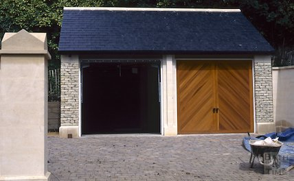 New garages, Cavendish Lodge, Cavendish Road, September 1996