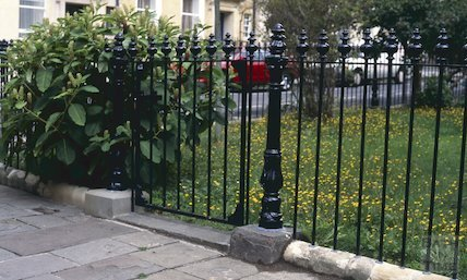 New railings, Catharine Place, September 1996
