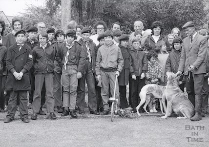 Members of the Paulton scout group, 1971