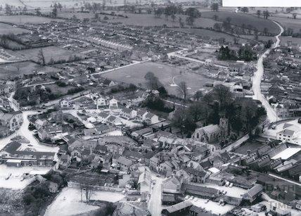 1971 Aerial view of Paulton