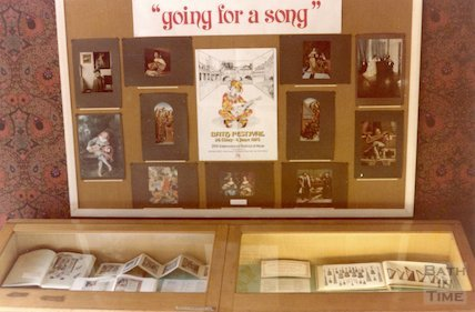 Display in Reference Library Vestibule, Bath Festival, May-June 1978