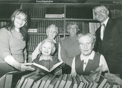 Library housebound Volunteers with Miss R. Erola (l) and R. Ashby (r)