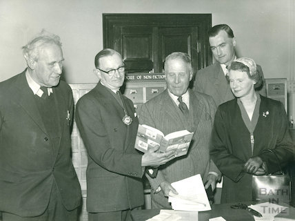 Opening of the Converted Lending Library, Bridge Street