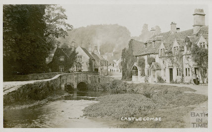 The ford and bridge at Castle Combe, c.1910