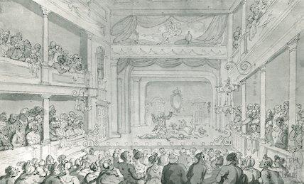 Scarborough Theatre by Thomas  Rowlandson, c.1790
