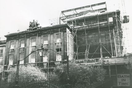 Back of Theatre Royal from Beaufort Square, 1982