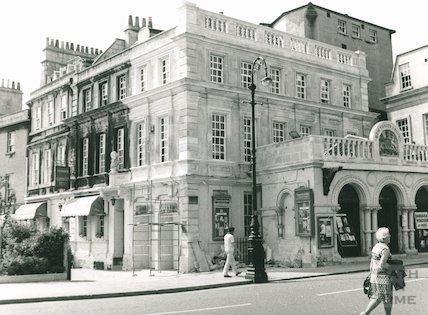 Theatre Royal after restoration work and the Garrick's Head, 1975