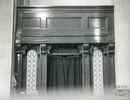 Old Orchard Street Theatre box, now the Masonic Hall, 1950